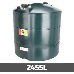 Cuve à fioul de 2455 litres en PE-HD - simple paroi