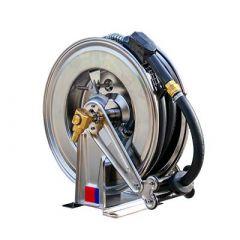 Enrouleur pour tuyau de mazout - inox large (max. 20 mètres)
