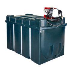 Cuve fioul en PE de 2500 litres avec pompe pour gasoil / GNR (220V) - montée sur cuve