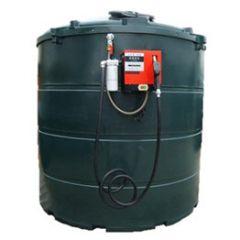 Cuve fioul en PE de 5000 litres avec pompe pour gasoil / GNR (220V) - montée sur paroi