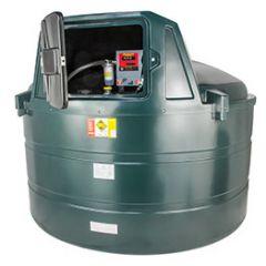 Cuve fioul en PE de 5000 litres avec pompe pour gasoil / GNR (220V) - montée dans l'armoire