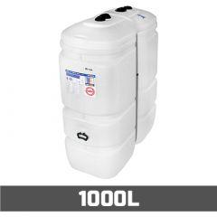 Cuve fioul PE: 1000 litres compact - aérienne double paroi