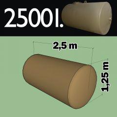 Cuve fioul à enterrer en acier de 2500 litres