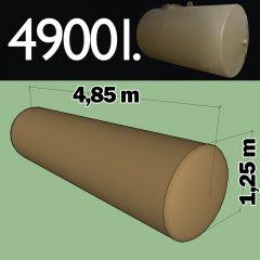 Cuve fioul à enterrer en acier de 4900 litres