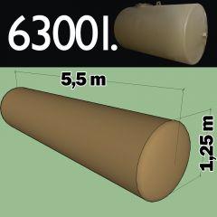 Cuve fioul à enterrer en acier de 6300 litres