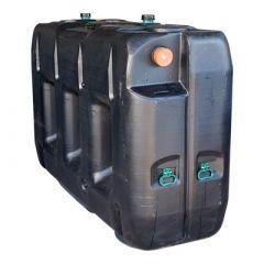 Fosse septique rectangulaire en plastique (PE) à enterrer de 3000 litres