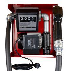 Pompe gasoil 220V (40-60 L/M) avec compteur - Ouverte