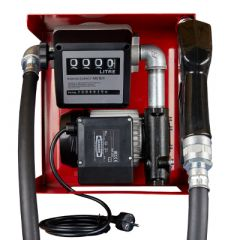 Pompe gasoil 220V (60-80 L/M) avec compteur - Ouverte