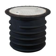 Rehausse renforcée de 60 cm avec couvercle en acier 600 mm pour fosse septique à enterrer