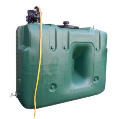 Cuve eau de pluie rectangulaire aérienne - Avec pompe - 1500 litres