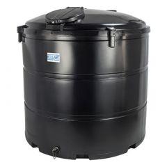 Citerne eau aérienne ronde - 3050 litres - avec trou d'homme