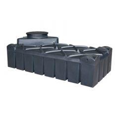 Cuve à eau aérienne ultraplate en plastique - 1500 litres