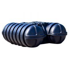 Citerne eau de pluie plate en PE - 3500 litres - avec une rehausse réglable