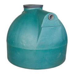 Citerne à eau de pluie souterraine ronde en PE de 2000 litres