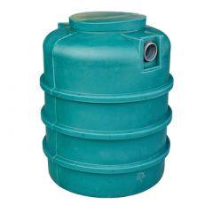 Citerne à eau de pluie souterraine ronde en PE de 1000 litres
