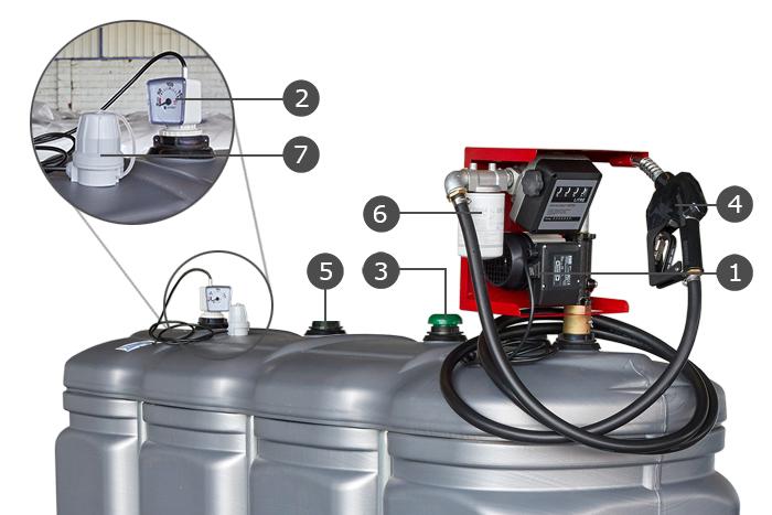 cuve GNR plastique avec pompe accessoires